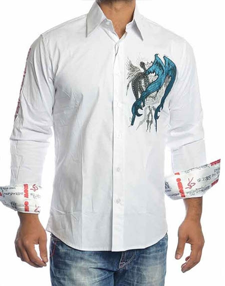 940b4f18 Mondo Jeans | White Luxury Dress Shirt 8877