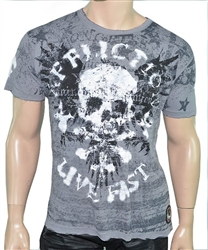 Affliction Men Mash Designer Tee