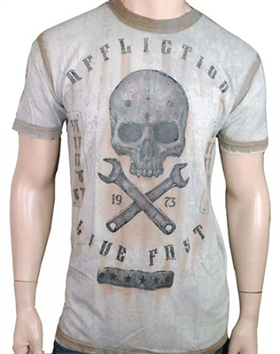 Affliction On The Tracks SS Crew Neck Tee