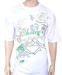 First Choice Couture Green Crystal Signature shirt