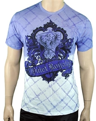 Quiet Royalty Falcon Crest Tee Purple