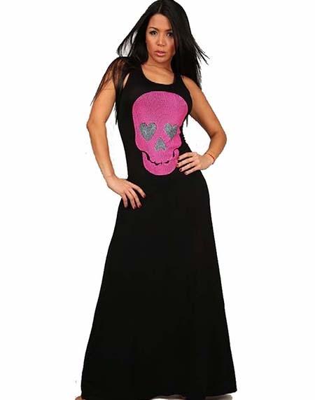 Skull maxi dress by love