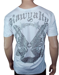 Rawyalty Men Pistols T Shirt White