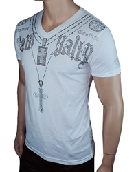 Rawyalty Men Triple Cross T Shirt