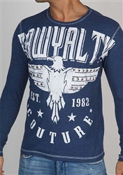 Rawyalty Men Vintage Eagle thermal Shirt