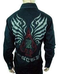 Rawyalty Ace of Spades Buttton Down shirt