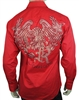 Red designer crystal shirt