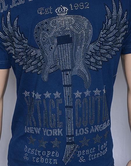Rawyalty Guitar Wings Shirt in Yellow size MEDIUM Last One!