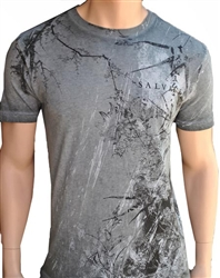 Salvage Men's Saint Cement V-neck Tee