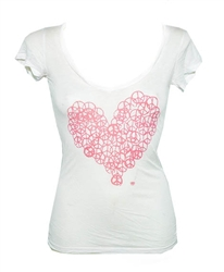 Dirtee Hollywood Peace Heart Tee