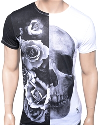 Religion Clothing Rose Skull Tee