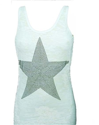 Rawyalty Women Crystal Star Tank